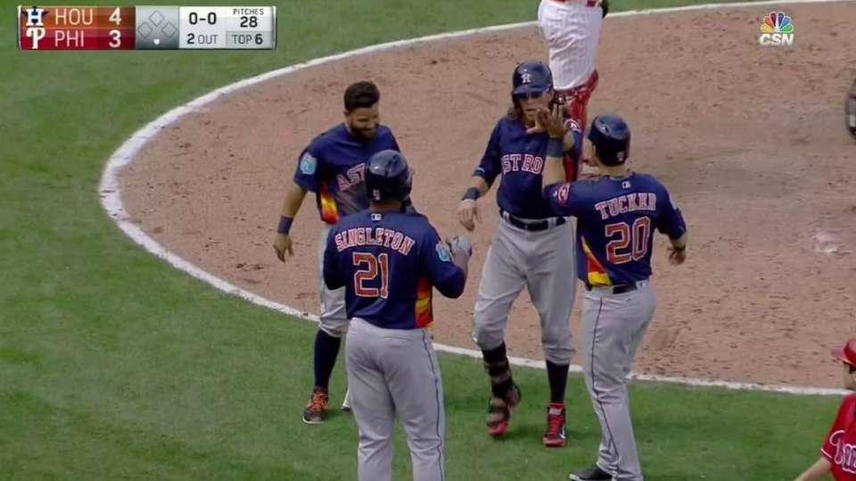 Rasmus hits three-run homer