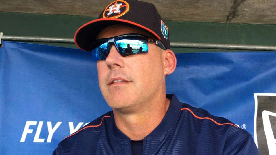 Hinch on Astros' roster cuts