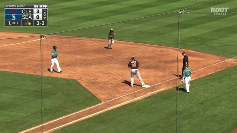Martinez turns the double play