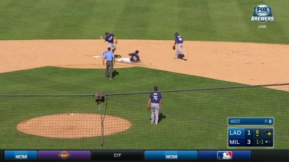 Culberson turns double play