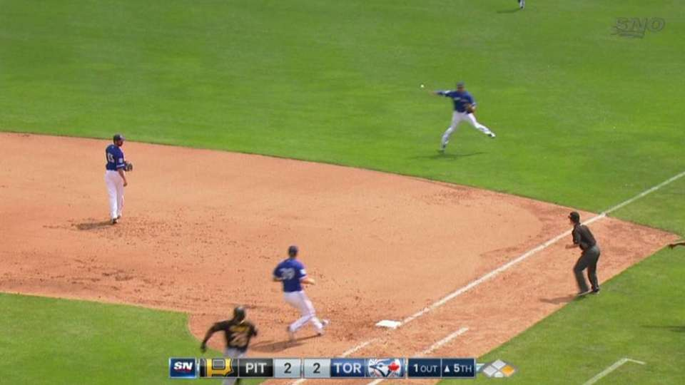 Goins' slick ranging play