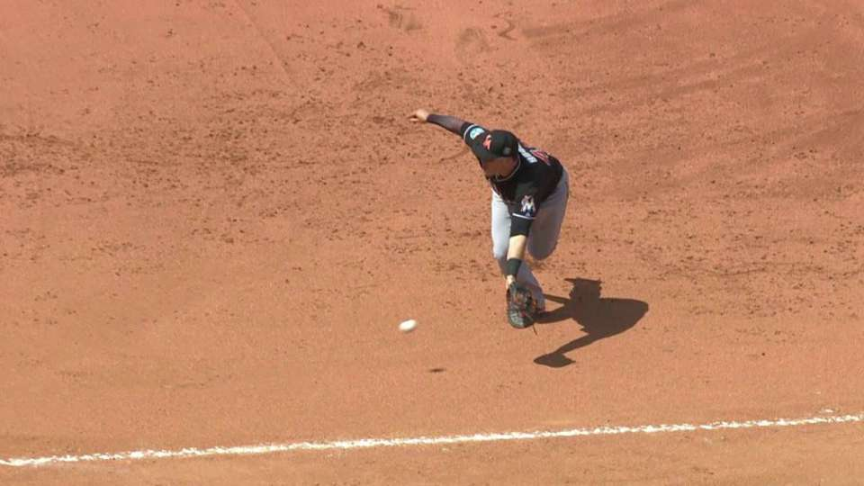 Bour's grab at first