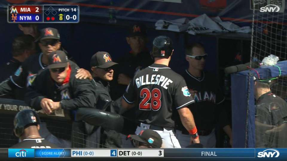 Gillespie scores on double play
