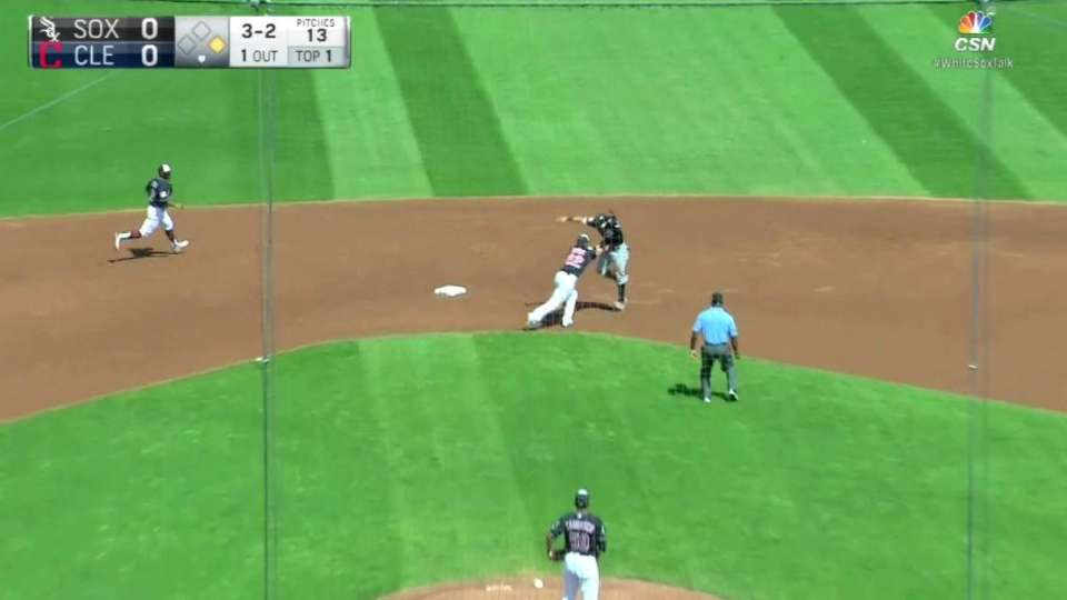 Tribe turns double play