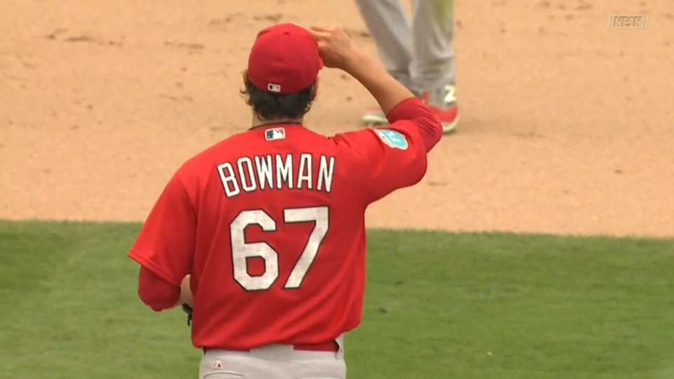 Bowman strikes out two in 5th