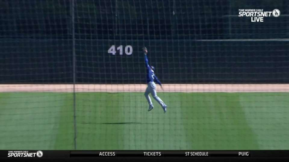 Thompson's leaping catch