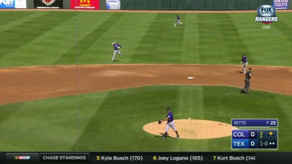 Story's great throw ends inning