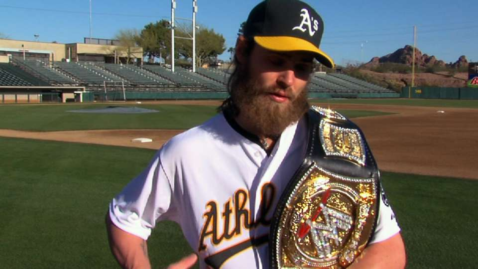 Reddick's WWE belt