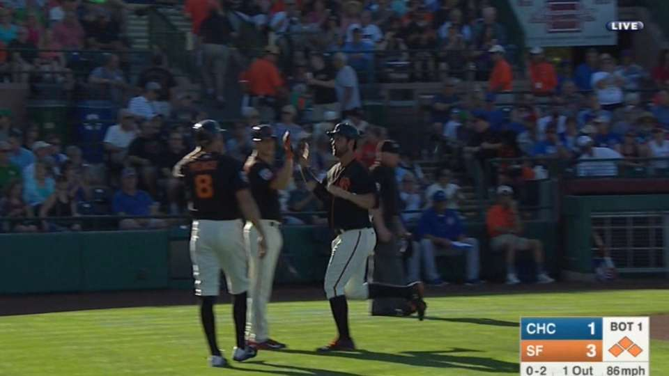 Giants score five in 1st