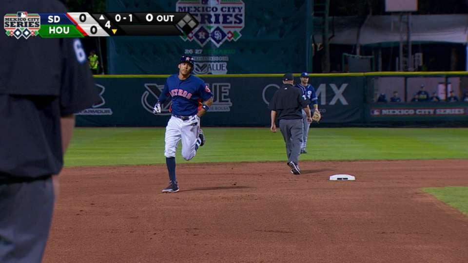 Correa dispara jonron