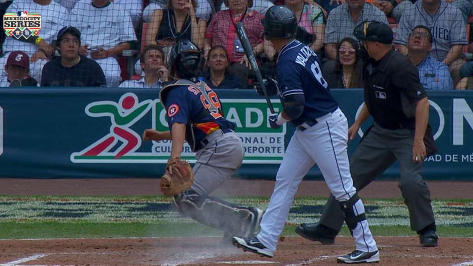 Rosales scores on wild pitch