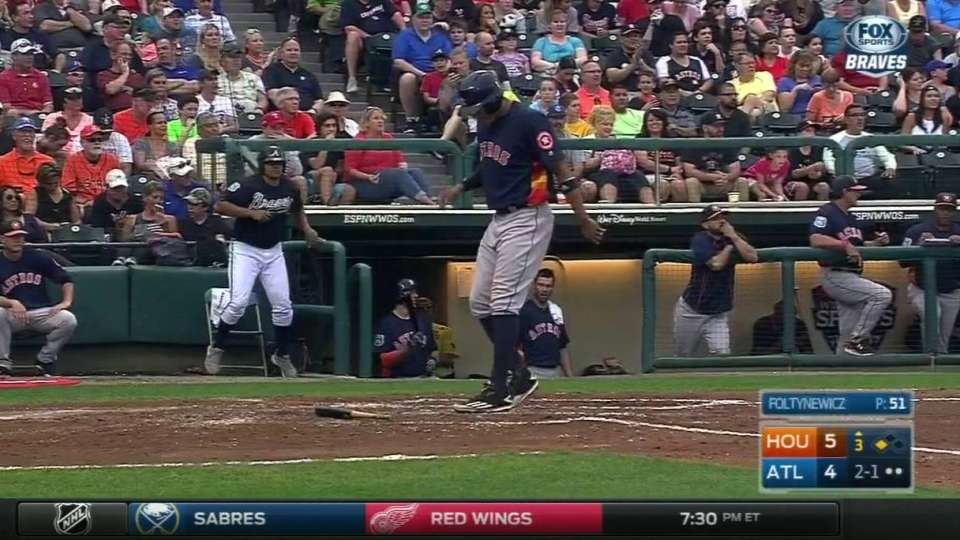 Correa scores to further lead