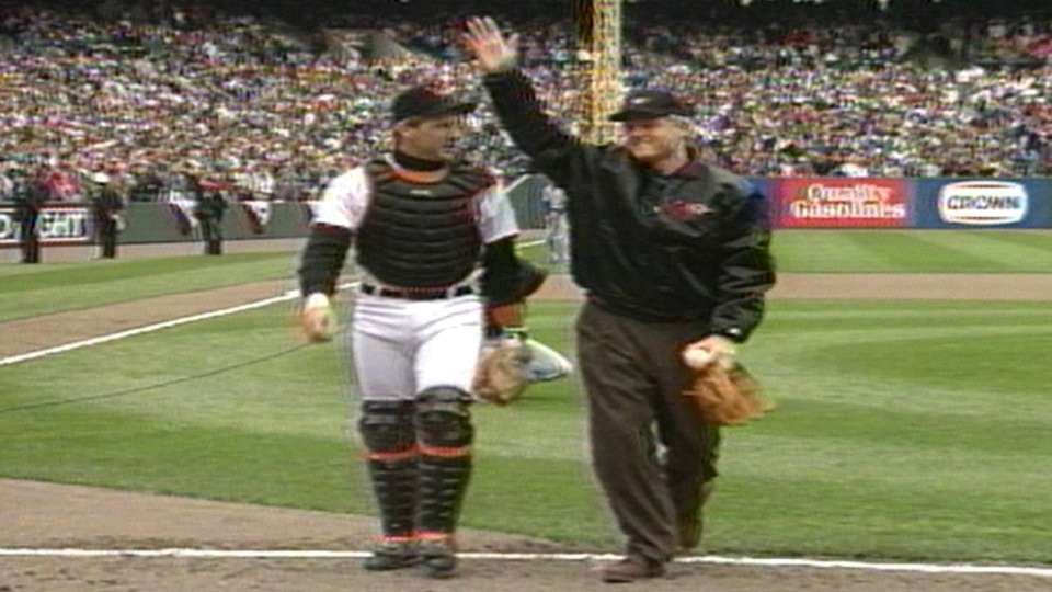 Clinton's first pitch in 1993