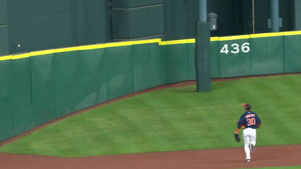 Lucroy's ground-rule double