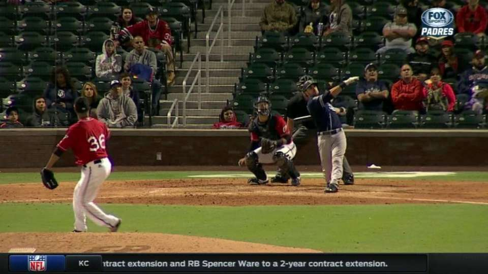 Hedges' long home run