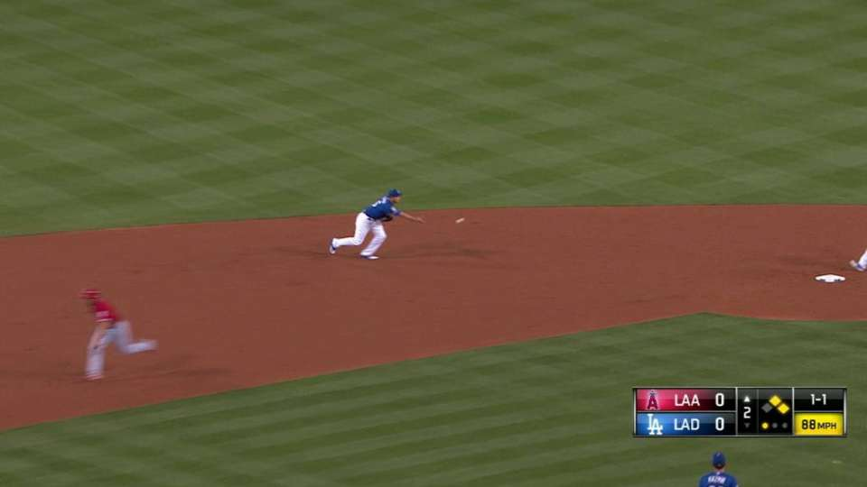 Seager starts the double play