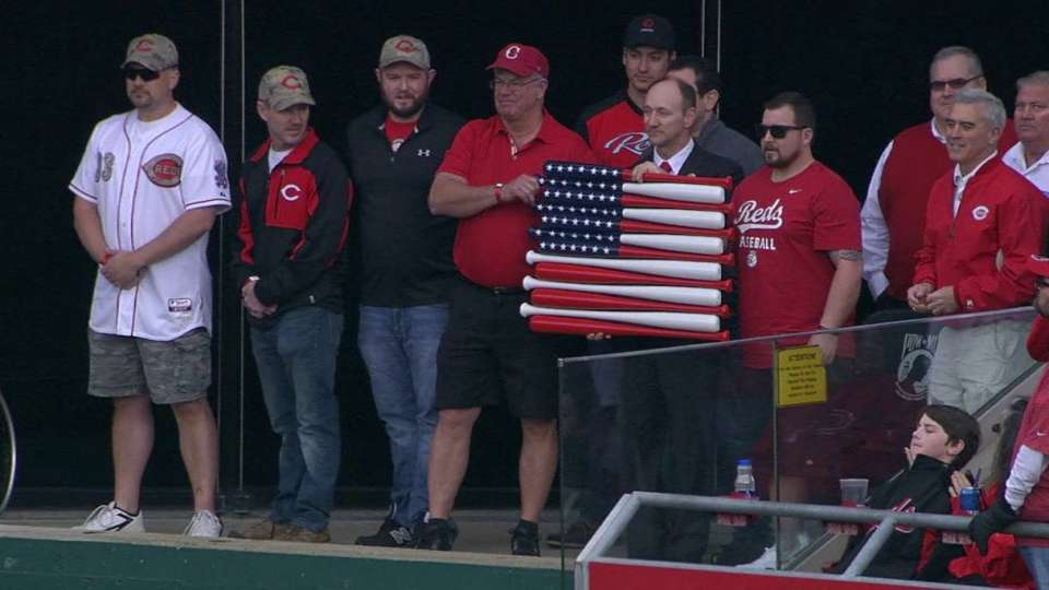 Vets honored on Opening Day