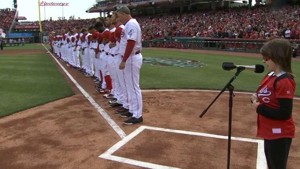 VanHoose sings national anthem