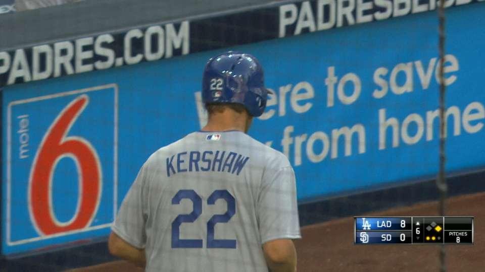 Dodgers score five runs in 6th