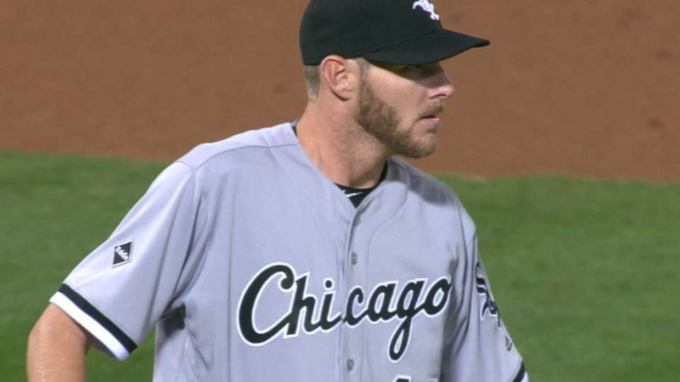 Sale strikes out eight