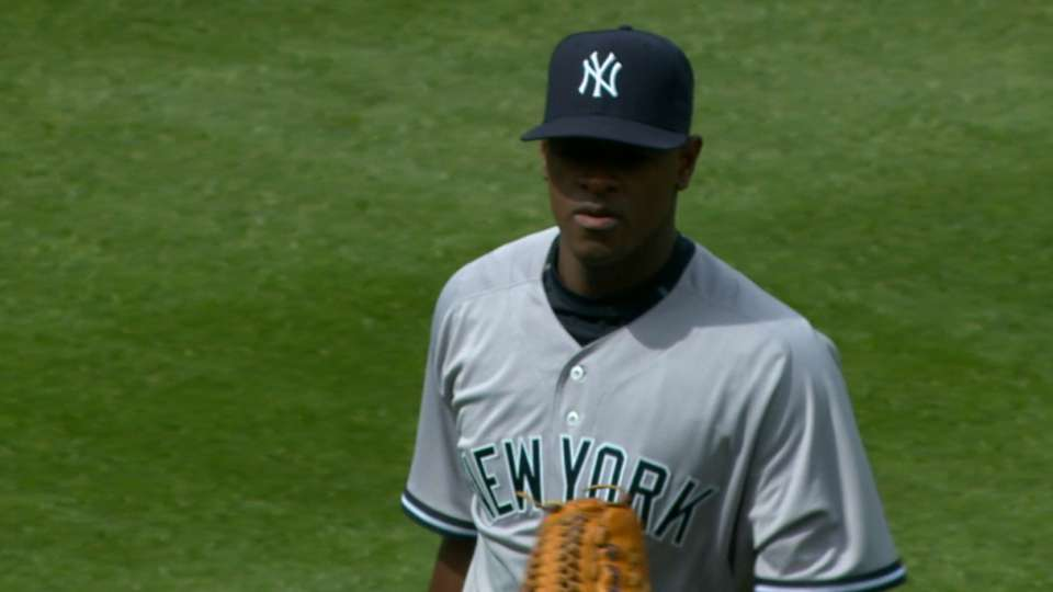 Severino strikes out five