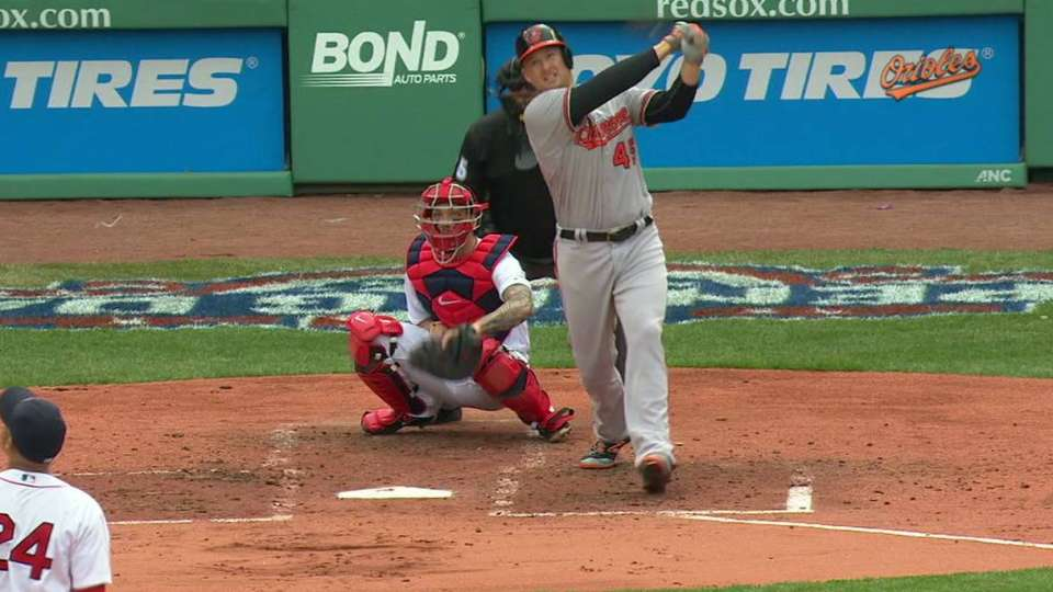 Trumbo's first Orioles homer
