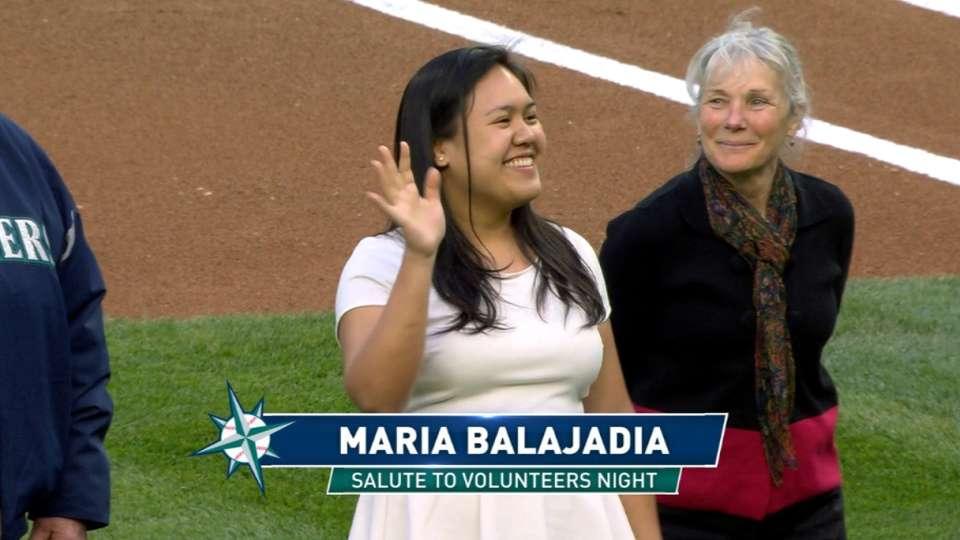 Volunteers honored before game