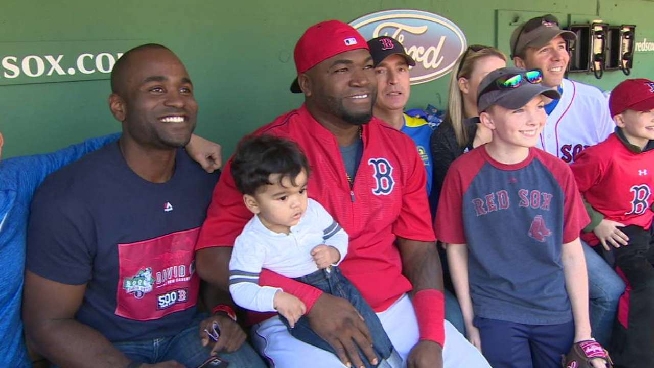 Red Sox Honor Marathon Victims On Patriots Day Boston Tendencies Hats Classic Fist Bump Navy Ortiz Meets Runners