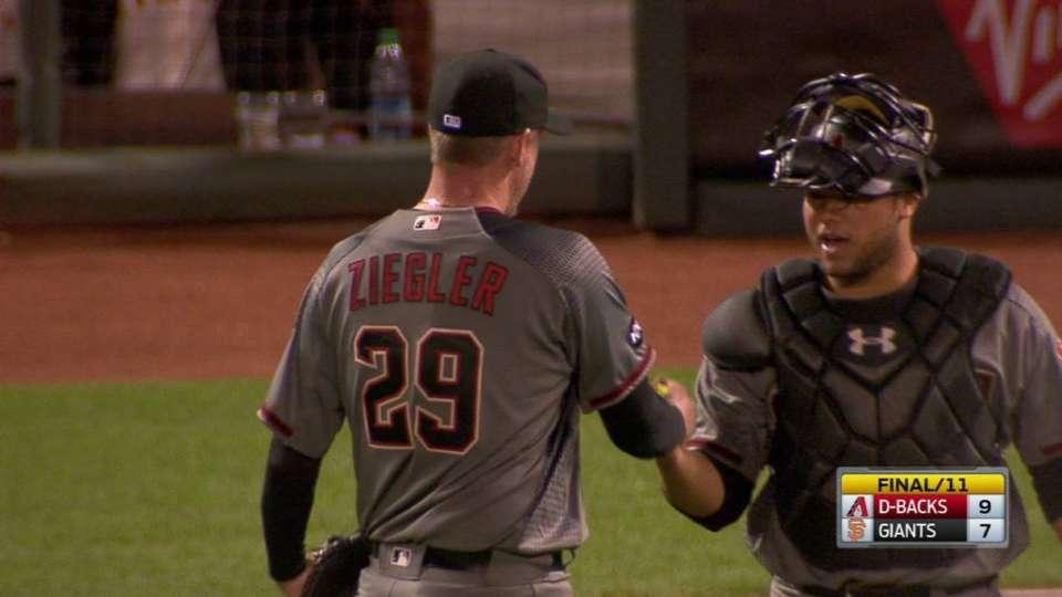 Ziegler gets DP to notch save