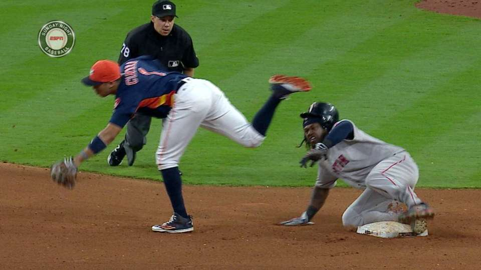 Hanley steals second