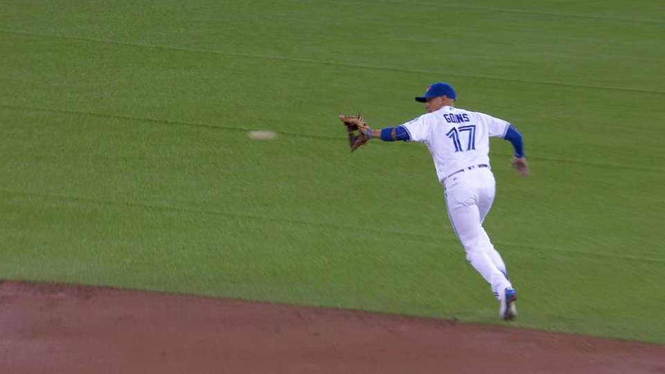 Goins' play behind second