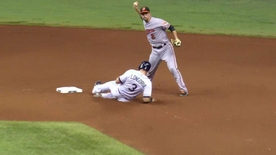 Worley gets the double play