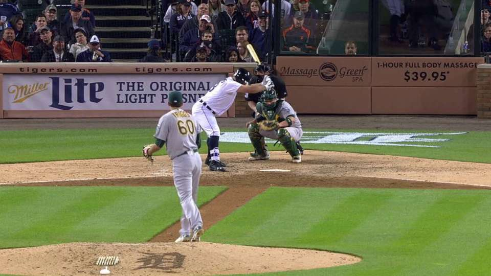 Triggs' first career strikeout