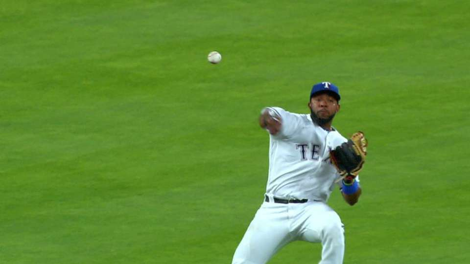 Andrus throws out Headley