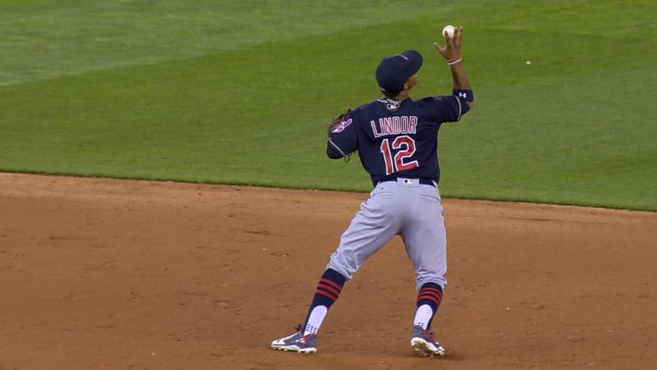Lindor puts on defensive show