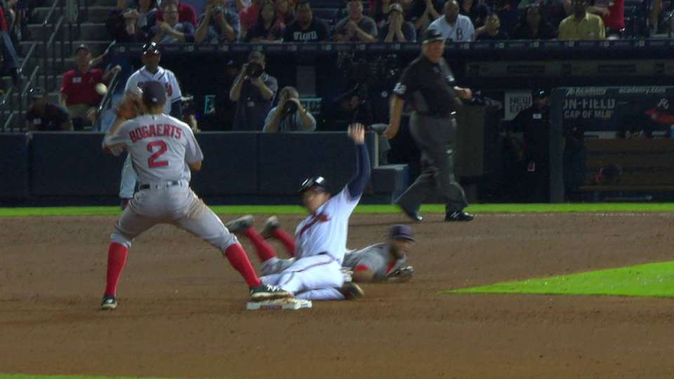 Freeman called out at second
