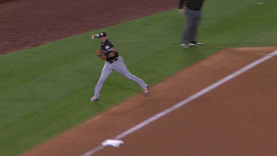 Rojas' outstanding throw