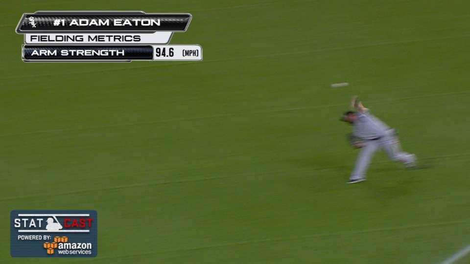 Statcast: Eaton shows off arm
