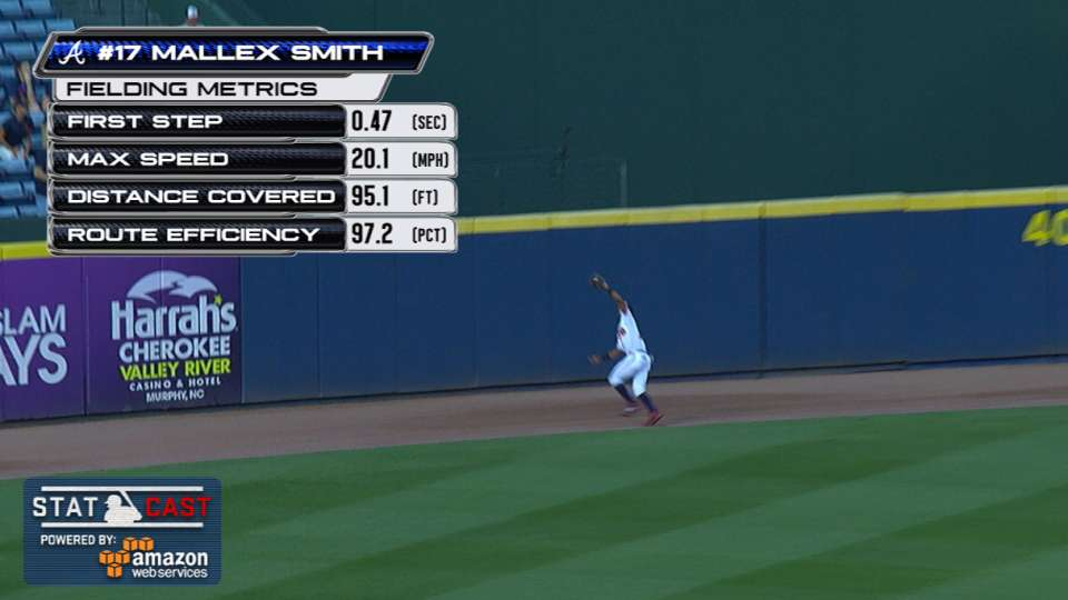 Statcast: Smith's running catch
