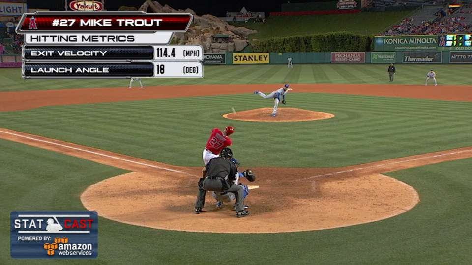 Statcast: Trout's laser home run