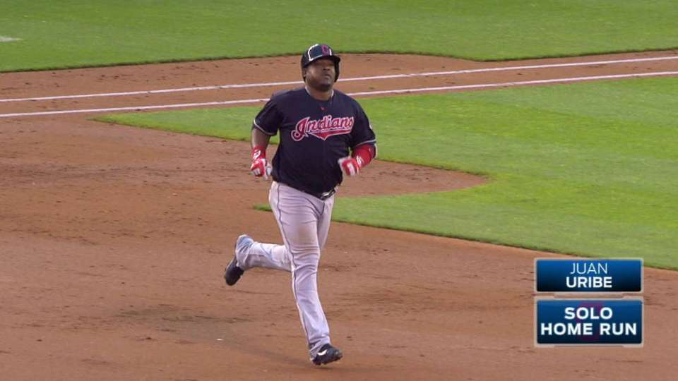 Uribe's first homer of 2016