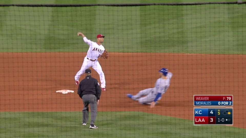 Angels combine for a double play