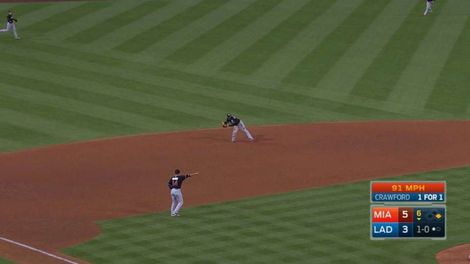 Hechavarria's diving grab