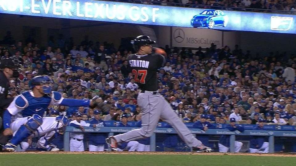 Marlins' five-run inning
