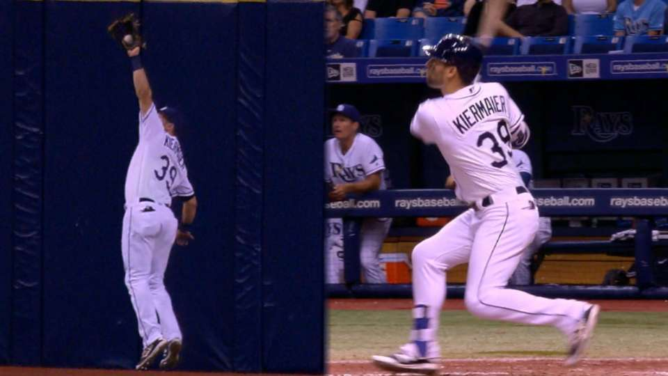 Kiermaier robs hit, belts homer