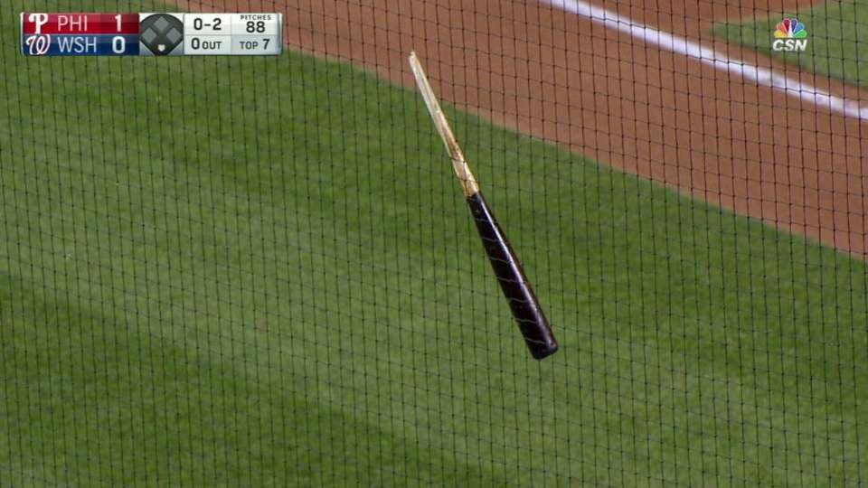 Hernandez's bat lands in screen