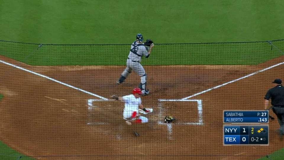 Rua scores on fielder's choice