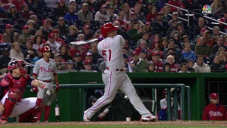 Ruiz's solo home run