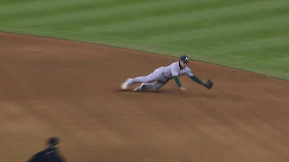Lowrie's nice diving stop
