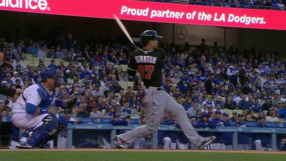 Stanton's broken-bat RBI single